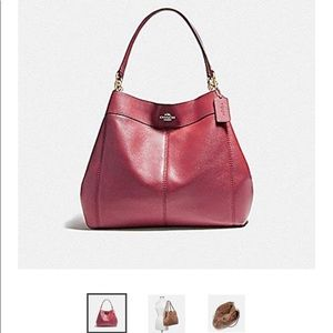 Coach large Lexy  shoulder bag ,Crimson